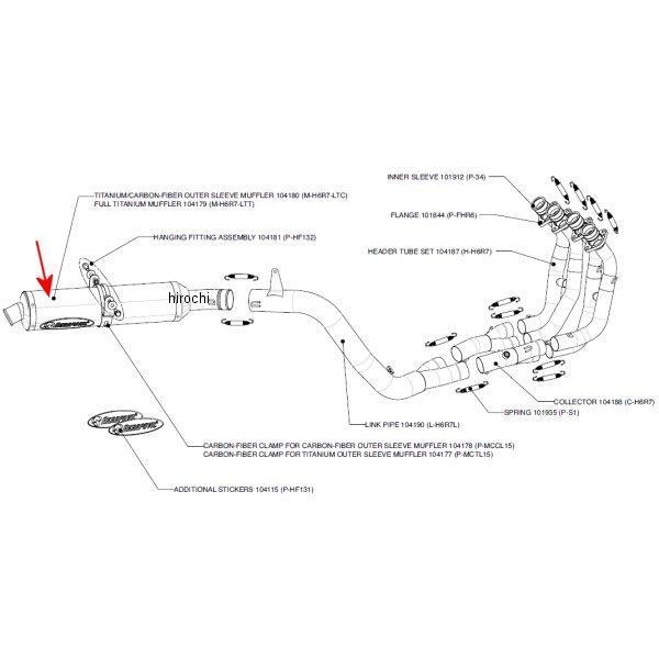 アクラポビッチ AKRAPOVIC リペアサイレンサー レーシング/エボリューションライン 05年 CBR600RR チタン M-H6R7-LTT HD店