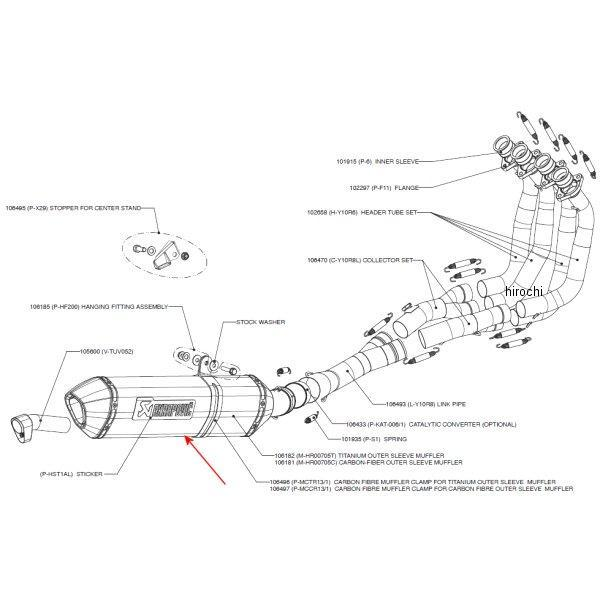 アクラポビッチ AKRAPOVIC リペアサイレンサー レーシング/エボリューションライン E1仕様 ヘックス 06年以降 FZ-1 カーボン M-HR00705C HD店