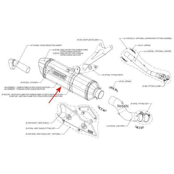 アクラポビッチ AKRAPOVIC リペアサイレンサー Z-TYPE E1仕様 08年-11年 CB1000R チタン M-HZ02805T HD店
