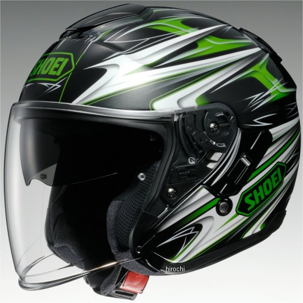 【メーカー在庫あり】 ショウエイ SHOEI ヘルメット J-CRUISE CLEAVE TC-4 緑/黒 Lサイズ 4512048440381 HD店