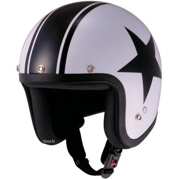 山城 ジュクー JUQUE ヘルメット FC024 スター 白/黒 Mサイズ 4547544030255 HD店