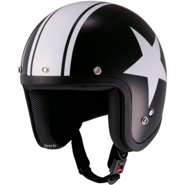 山城 ジュクー JUQUE ヘルメット FC024 スター 黒/白 Mサイズ 4547544030286 HD店