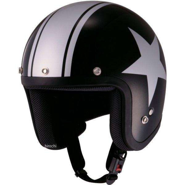 山城 ジュクー JUQUE ヘルメット FC024 スター 黒/シルバー Lサイズ 4547544030323 HD店