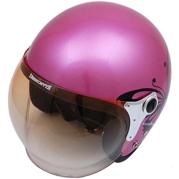 【メーカー在庫あり】 ダムトラックス DAMMTRAX ヘルメット NEW CHEER BUTTERFLY 女性用 ピンク レディースサイズ(57cm-58cm) 4580184031305 HD店