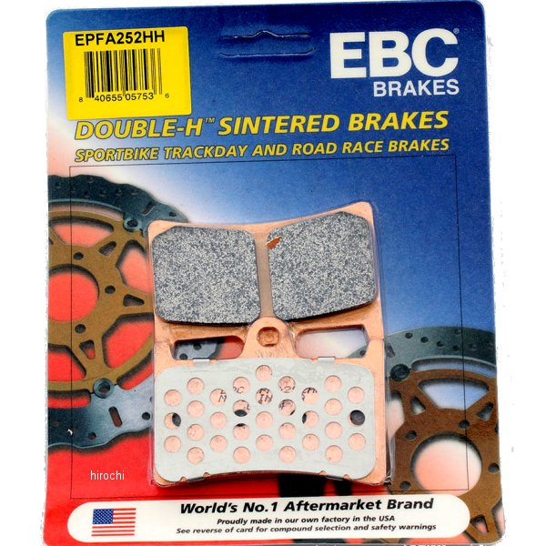 【USA在庫あり】 イービーシー EBC ブレーキパッド フロント 97年-08年 FZ6、YZF600 EX-Performance シンタード 610014 HD店