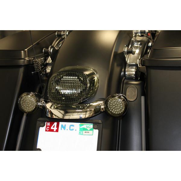 【USA在庫あり】 カスタム ダイナミクス Custom Dynamics テールライト LED 10年-13年 FLHX、FLTRX スモーク 2010-1234 HD