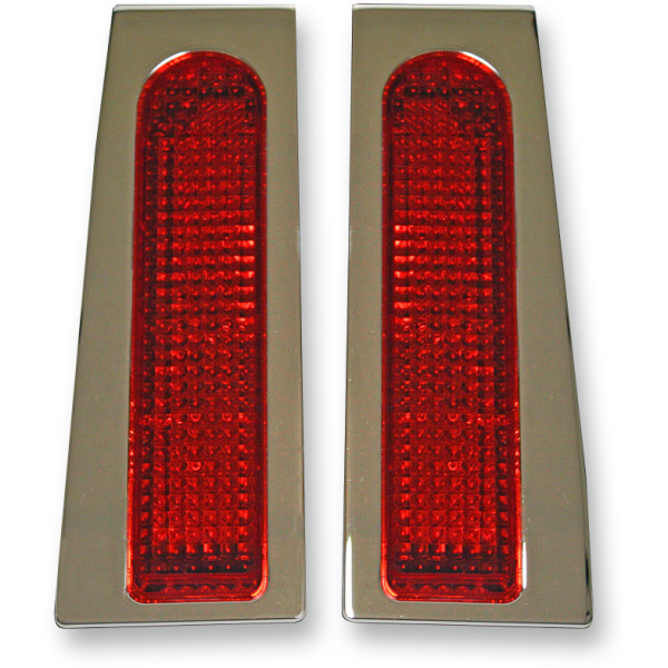 2040-1644 GEN-FDRS-RED特别定做动力学Custom Dynamics LED灯自行车座包缝隙事情铬/红透镜