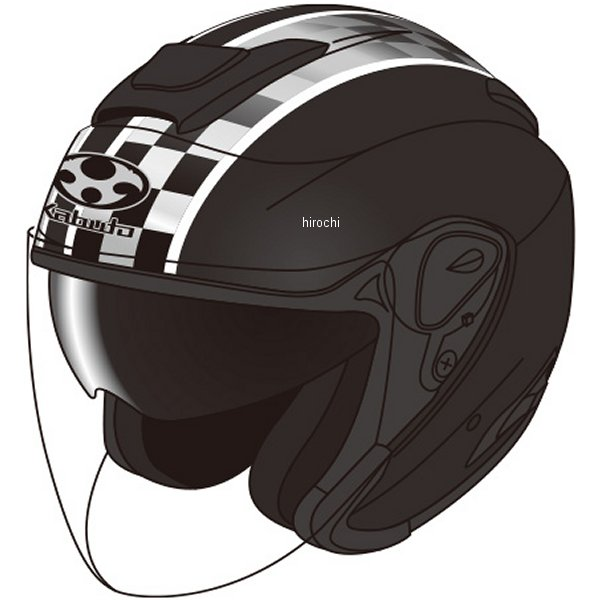 【メーカー在庫あり】 オージーケーカブト OGK KABUTO ジェットヘルメット ASAGI SPEED フラットブラック Sサイズ 4966094562496 HD店