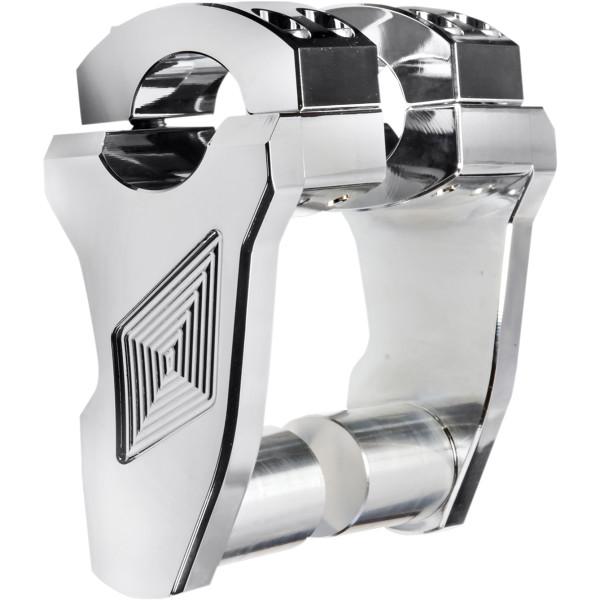 【USA在庫あり】 ロックス スピード FX Rox Speed FX 1インチハンドルバー 3インチ(76mm)高 ピボット ライザー クローム 0602-0846 HD店