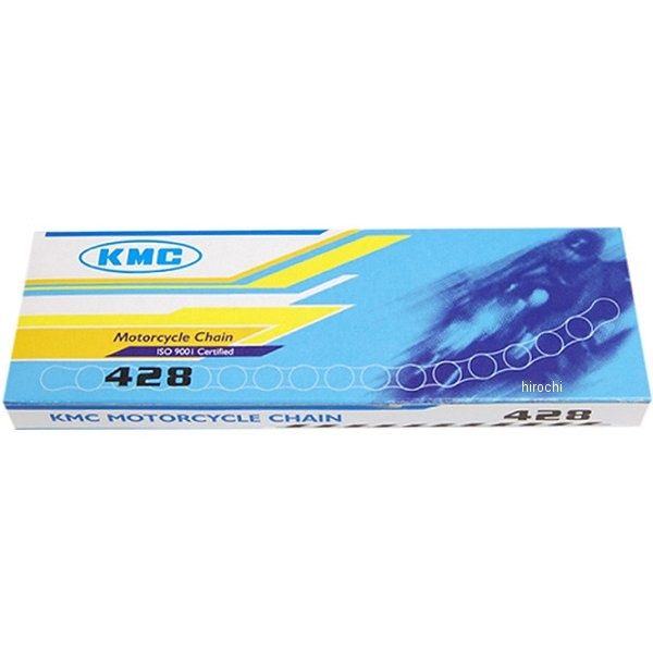 メーカー在庫あり KMC ゴールドチェーン 428 120L クリップ式 ノンシールチェーン HD店 本物 倉庫 911105