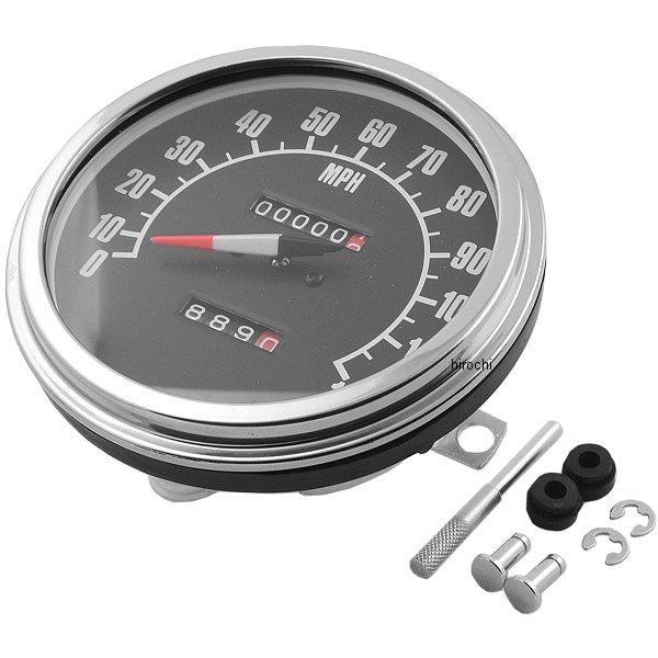 【USA在庫あり】 DRAG 5インチ ダッシュマウント スピード メーター マイル表示 65年-83年 FL、FX DS-243861 HD