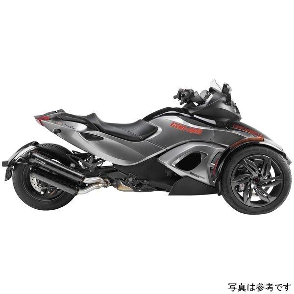 【USA在庫あり】 ツーブラザーズレーシング スリップオンマフラー ブラックシリーズ M-2 デュアル 13年-15年 スパイダー アルミ 594595 HD