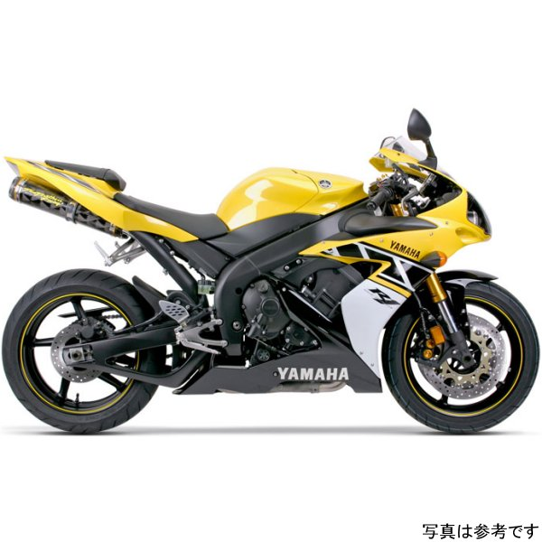 【USA在庫あり】 ツーブラザーズレーシング スリップオンマフラー ブラックシリーズ M-2 デュアル 04年-06年 YZF-R1 カーボン 594040 HD