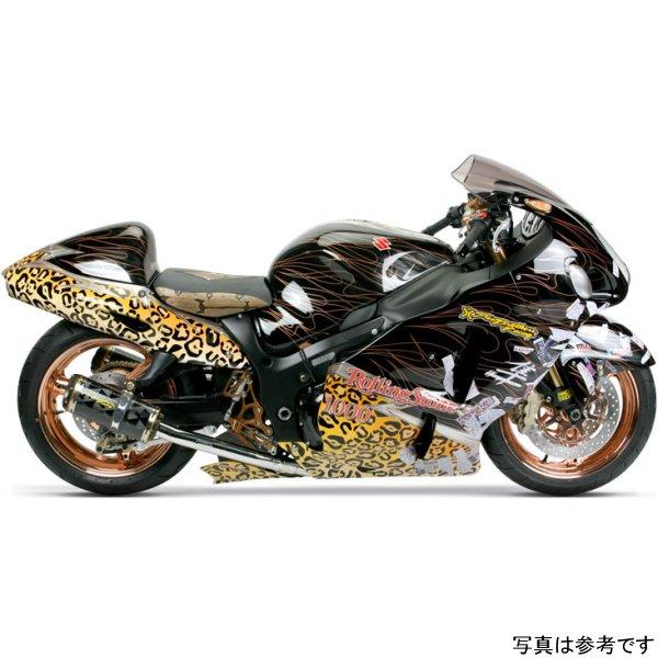 【USA在庫あり】 ツーブラザーズレーシング スリップオンマフラー ブラックシリーズ M-2 ショーティ 02年-07年 GSX-1300R カーボン 594386 HD