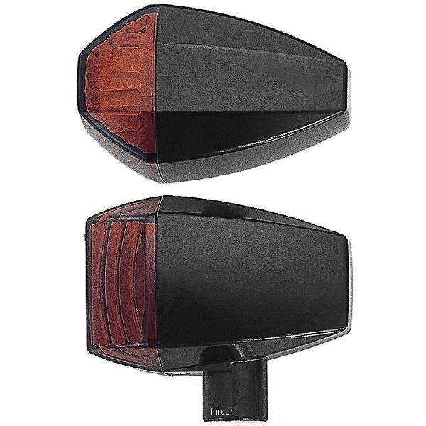 ポッシュ POSH LED ZRウインカーセット クリスタルタイプ 01年-03年 ZRX1200R、ZRX400 黒/オレンジ 071565-06 HD店