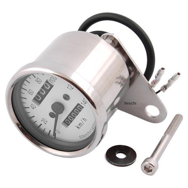 【メーカー在庫あり】 ポッシュ POSH LEDバックライトミニスピードメーター SR400、TW200 機械式 白パネル 000014-70 HD店