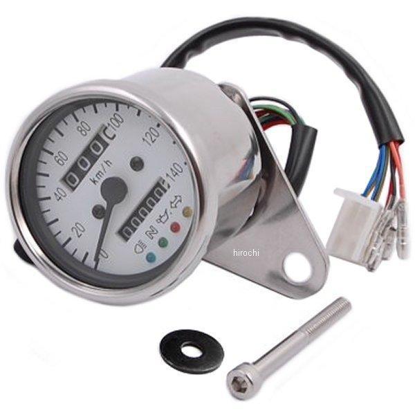 【メーカー在庫あり】 ポッシュ POSH LEDバックライト4インジケーターミニメーター 機械式 79年-16年 SR500、SR400、TW200 白パネル 000014-80 HD店