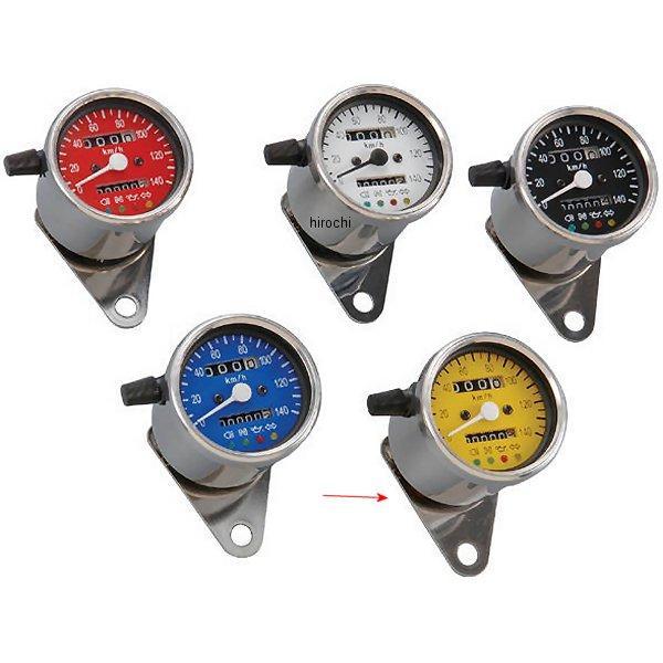【メーカー在庫あり】 ポッシュ POSH LEDバックライト4インジケーターミニメーター 機械式 79年-16年 SR500、SR400、TW200 黄パネル 000014-83 HD店