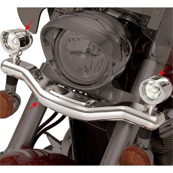 418718 ショークローム Show Chrome ドライビング ライト キット ハロゲンライト付き VTX1800、VTX1300 418718 HD
