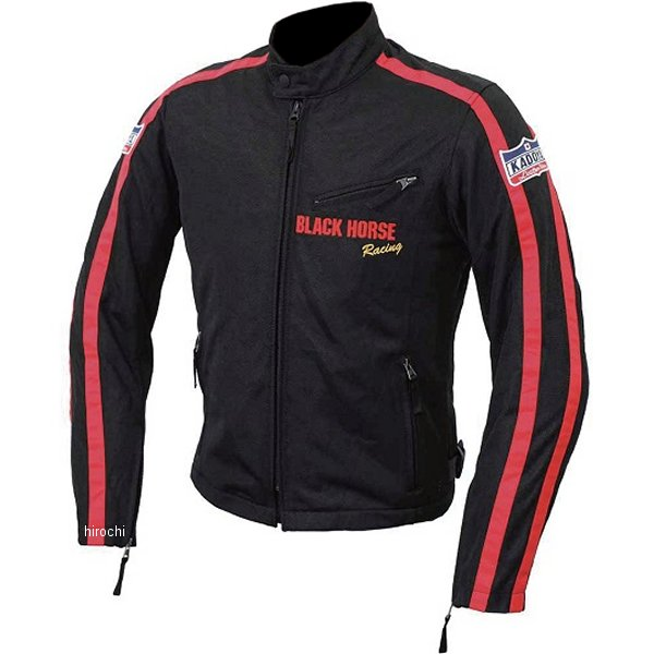 6545 カドヤ KADOYA ライディングジャケット BHR-CRM3 黒/赤 Lサイズ 6545-0/BK/RED/L HD店
