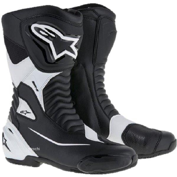 【メーカー在庫あり】 アルパインスターズ Alpinestars 春夏モデル ロードレーシングブーツ SMX-S 黒/白 44サイズ (28.5cm) 8021506618782 HD店