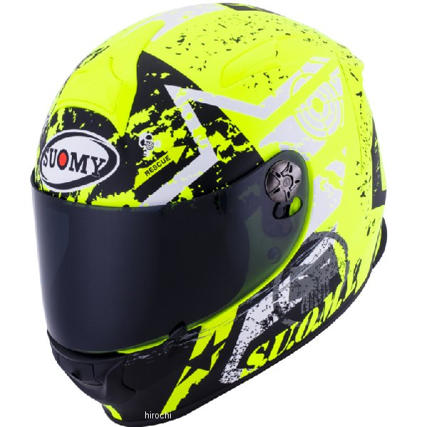 【メーカー在庫あり】 SR0024 スオーミー SUOMY フルフェイスヘルメット SR-SPORT スターズ 黄 Mサイズ(57cm-58cm) SSR002402 HD店