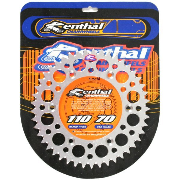 【USA在庫あり】 レンサル RENTHAL リア スプロケット 50T/520 83年以降 KTM、ハスクバーナ アルミ シルバー 801609 HD店