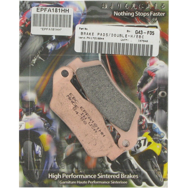 【USA在庫あり】 イービーシー EBC ブレーキパッド フロント 94年-08年 KTM EX-Performance シンタード 610006 HD店