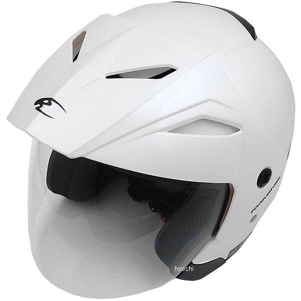 【メーカー在庫あり】 HK-165 コミネ KOMINE ヘルメット エーラ パールホワイト Lサイズ 4560163752490 HD店