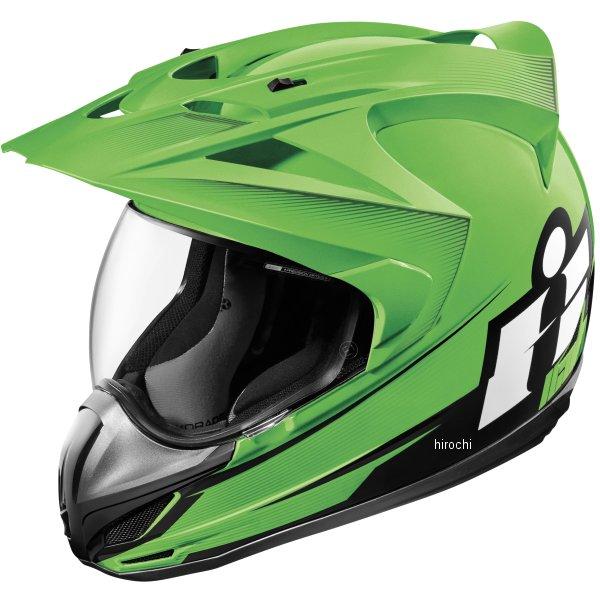 【USA在庫あり】 アイコン ICON フルフェイスヘルメット VARIANT DOUBLE STACK 緑 Lサイズ 0101-10006 HD店