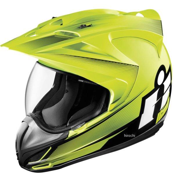 【USA在庫あり】 アイコン ICON フルフェイスヘルメット VARIANT DOUBLE STACK ハイビズ XSサイズ 0101-10010 HD店