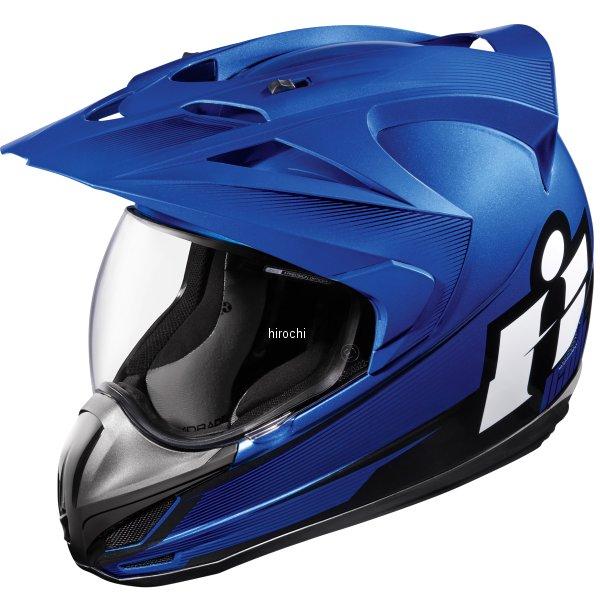 【USA在庫あり】 アイコン ICON フルフェイスヘルメット VARIANT DOUBLE STACK 青 Lサイズ 0101-9999 HD店