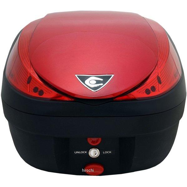 クーケース COOCASE リアボックス V28 フュージョン スペックF2 28L メタリックレッド CN26080 HD店