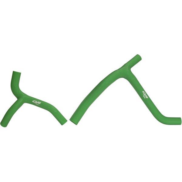 【USA在庫あり】 CV4 シーブイフォー ラジエター Yホース キット 06年-08年 KX450F 緑 793541 HD店