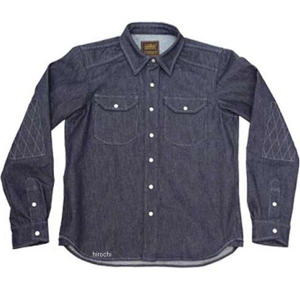 カドヤ KADOYA 春夏モデル ワークシャツ RIDE WORK 青 Lサイズ 6561 HD店