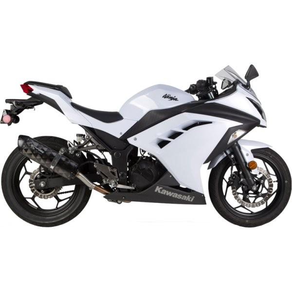 ツーブラザーズレーシング スリップオンマフラー ブラックシリーズ M-2 13年-15年 ニンジャ300 カーボン 005-3270407V-B HD店