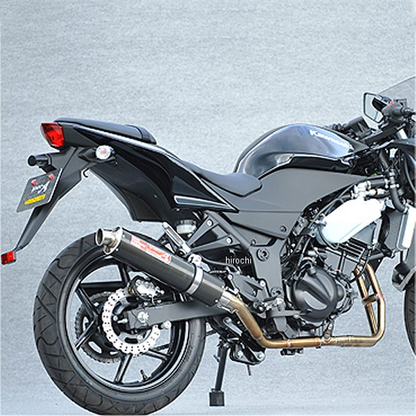 ヤマモトレーシング フルエキゾースト 08年-12年 ニンジャ250R 2-1 カーボン 触媒付き JMCA認定プレート付き 40251-61SCC HD