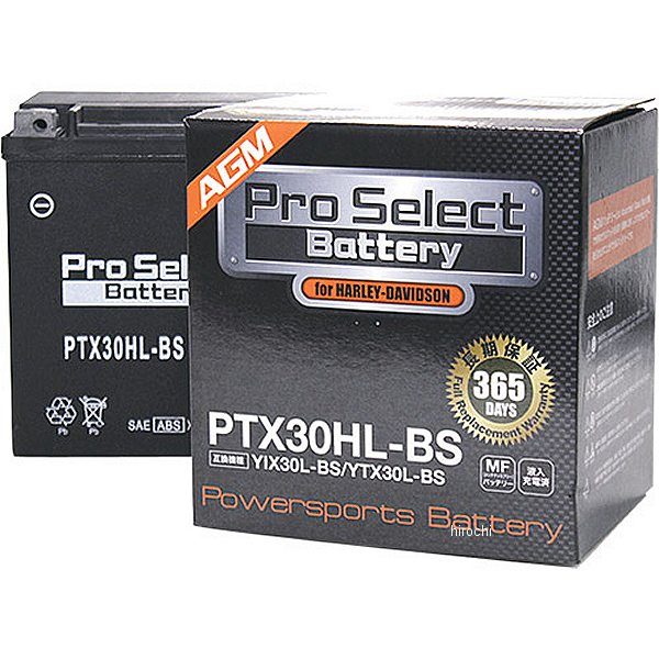 【メーカー在庫あり】 プロセレクト PROSELECT ハーレー用 バッテリー PTX30HL-BS YIX30L-BS/YTX30L-BS互換 PSB053 HD店