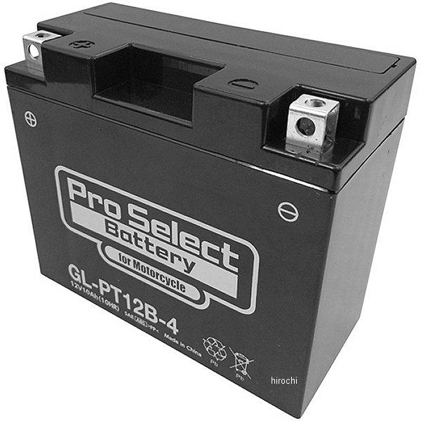 【メーカー在庫あり】 プロセレクト PROSELECT バイク用 バッテリー ジェルタイプ GL-PT12B-4 YT12B-BS/GT12B-4互換 (液入り充電済み) PSB118 HD店