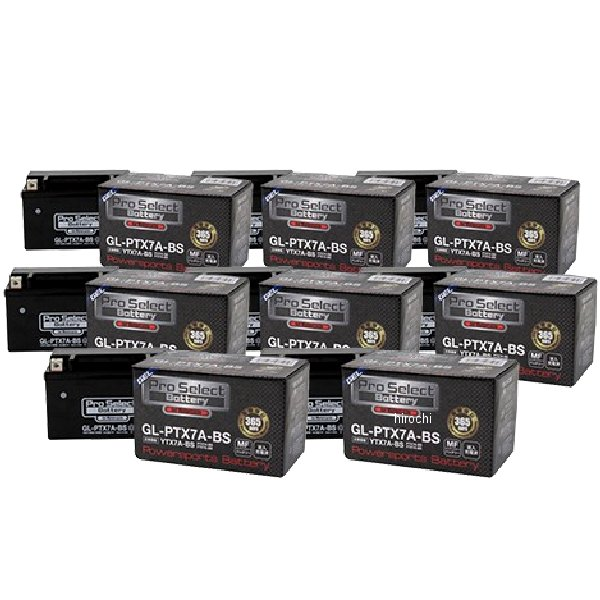 【メーカー在庫あり】 プロセレクト PROSELECT バイク用 バッテリー ジェルタイプ GL-PTX7A-BS YTX7A-BS互換 (液入充電済) 8個入り PSB143 HD店