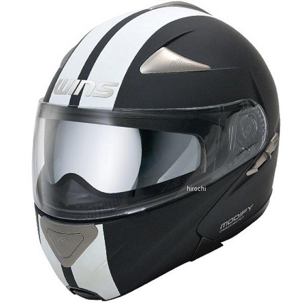 【メーカー在庫あり】 ウインズ WINS システムヘルメット MODIFY GT STRIPE マットブラック/白 XLサイズ(59-60cm) 4560385761430 HD店