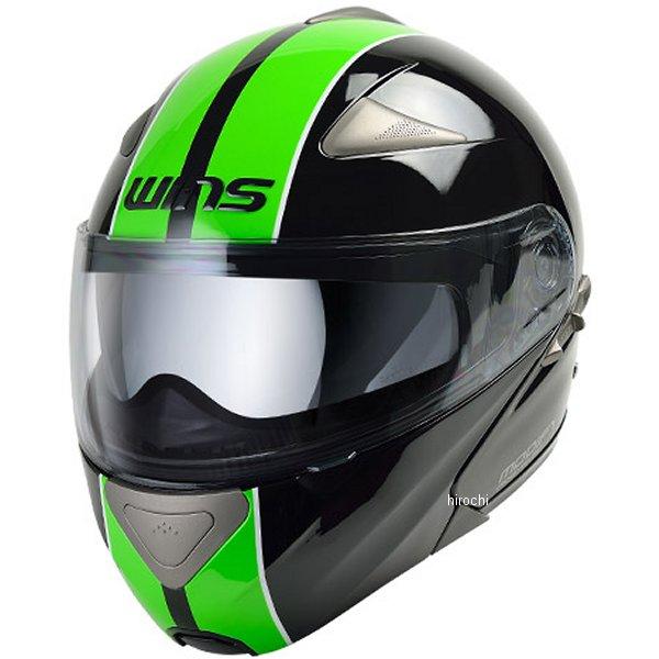 【メーカー在庫あり】 ウインズ WINS システムヘルメット MODIFY GT STRIPE 黒/緑 Lサイズ(58-59cm) 4560385765179 HD店