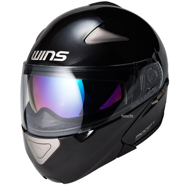 【メーカー在庫あり】 ウインズ WINS システムヘルメット MODIFY ソリッド メタリックブラック Lサイズ(58-59cm) 4560385766015 HD店