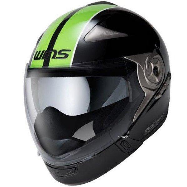 【メーカー在庫あり】 ウインズ WINS ジェットヘルメット MODIFY ADVANCE GTストライプ 黒/緑 Lサイズ(58-59cm) 4560385766190 HD店