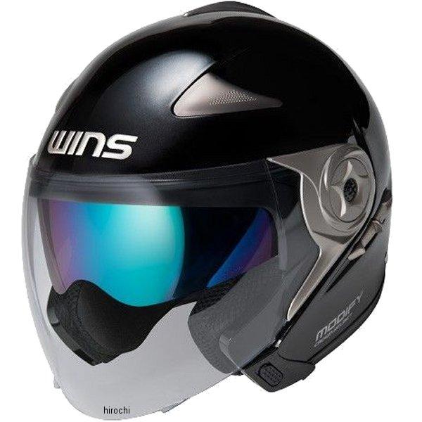 【メーカー在庫あり】 ウインズ WINS ジェットヘルメット MODIFY JET ソリッド メタリックブラック Lサイズ(58-59cm) 4560385766282 HD店