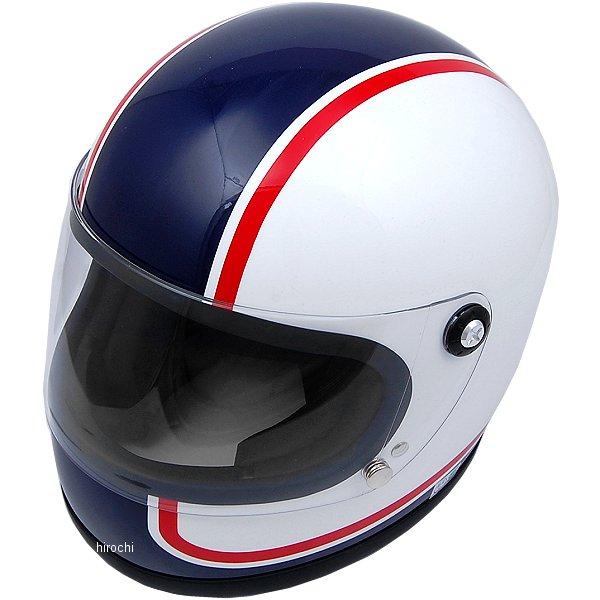 【メーカー在庫あり】 山城 ヘルメット ニューレトロフルフェイス750 青 Mサイズ YKH002/750 HD店