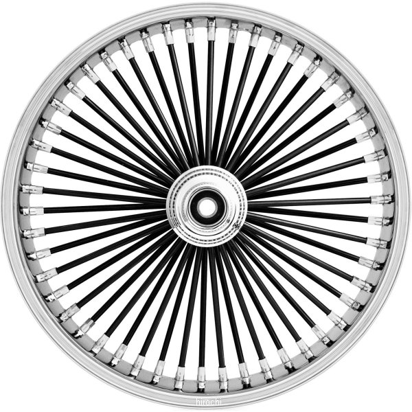 【USA在庫あり】 ライドライトホイール フロントホイール オメガ 50スポーク 19インチx2.15インチ 黒 08年以降 ダイナ 677235 HD