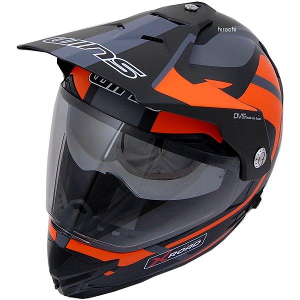 【メーカー在庫あり】 ウインズ WINS オフロードヘルメット X-ROAD FREE RIDE マットブラック/オレンジ Lサイズ(58-59cm) 4560385765445 HD店