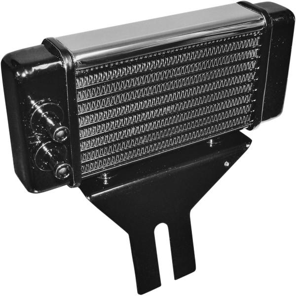 【USA在庫あり】 ジャグ Jagg Oil Coolers オイルクーラーキット 10段コア 水平 ローマウント 91年以降 ダイナ クローム 475049 HD