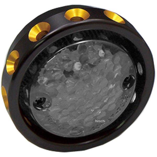 【メーカー在庫あり】 イージーライダース ドリルドテールライト LED 黒/ゴールド クリアレンズ 5891-C1 HD店
